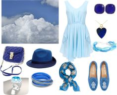 """""""Beautiful BLUE"""" by coolmommy44 ❤ liked on Polyvore"""