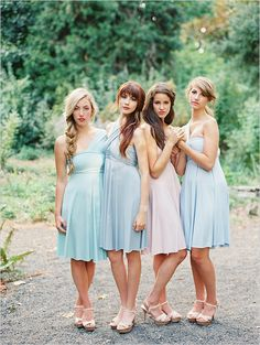 blue bridesmaid dresses http://www.weddingchicks.com/2013/10/11/convertible-dress/