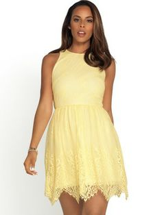 52ef73fea48329 Lace Gathered Waist Dress from Rochelle Humes for Very.co.uk Rochelle Humes