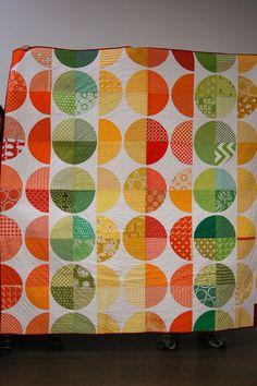 Citrus Wedge Quilt - Portland Modern Quilt Guild