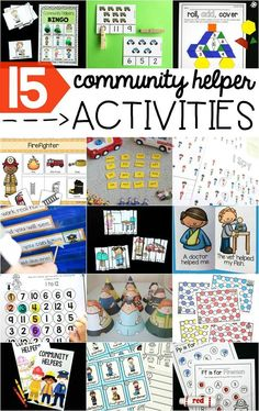 FREE printable community helper vehicles count and clip cards for preschoolers and kindergartens to practice counting and number recognition!