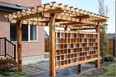 Patio Deck Designs, Patio Design, Exterior Design, Small Pergola, Pergola Patio, Gazebo, Glass Blocks Wall, Block Wall, Yard Privacy
