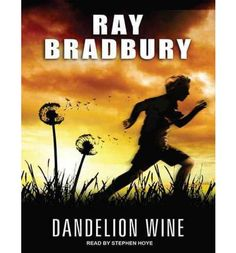 """Another must-listen from my """"Dandelion Wine"""" by Ray Bradbury, narrated by Stephen Hoye. Sci Fi Books, Audio Books, Dandelion Wine Ray Bradbury, I Love Books, Books To Read, Friend Moving Away, Badass Movie, Wine Stand, City Limits"""