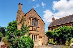 Pavillon d'entrée, Montacute House (XVIe), Montacute, South Somerset, Angleterre, Royaume-Uni.