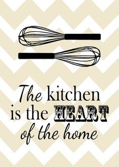 Kicking Ass & Crafting: Kitchen poster printables