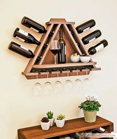 DIY vine rack