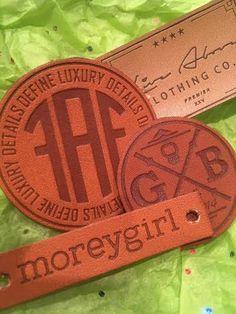 Parches de cuero de 150 etiquetas de cuero USA