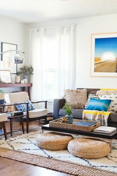 Nothing quite completes a bohemian-styled room like low seating, hugging the floor and giving off some seriously casual vibes