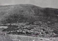 Nablus-نابلس: NABLUS - Late 19th, early 20th c. 5 (Mt. Ebal at sunset, 1920s)