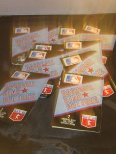 MLB Star Button Packages Lot Of 10 Hard To Find Unopened Baseball
