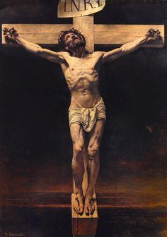 File:Leon Bonnat - The Crucifixion. Religious Paintings, Cross Paintings, Religious Art, Jesus Christ Painting, Jesus Art, Christus Tattoo, Jesus Tattoo Design, Jesus Drawings, Image Jesus