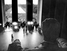 *Favorite photo of Lincoln Memorial*    Aug. 28, 1963    James K.W. Atherton photographed the civil rights demonstrations in the summer of 1963 at the Lincoln Memorial. At top, Martin Luther King Jr. appears before the March on Washington at the National Mall.    James K. W. Atherton / United Press International