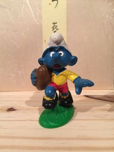 Excited to share the latest addition to my shop: Vintage Rugby Smurf Rugby, Smurfs, Unique Jewelry, Handmade Gifts, Etsy Shop, Toys, Character, Vintage, Art