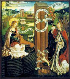 Erfurt Church St. Crucis (also called Neuwerkskirche) Annunciation - as the hunt of the unicorn - Altarpiece (1500-19) - JWE D343