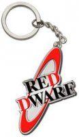 Red Dwarf metal logo keychain