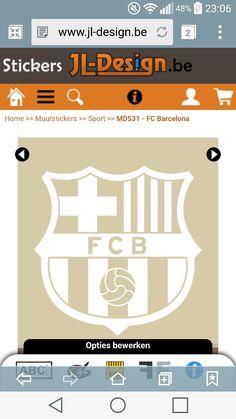 Muursticker FC Barcelona