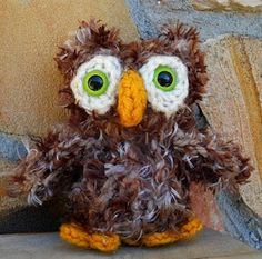Loom Knitted Owl Pattern