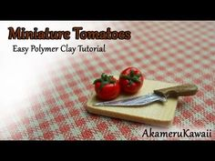 Miniature Tomatoes - easy polymer clay tutorial - YouTube