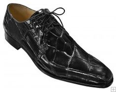 Fennix Italy Black All-Over Genuine Alligator Shoes.