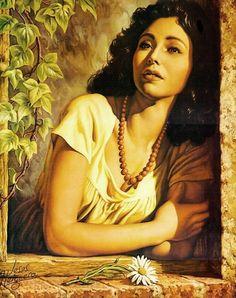 Jesús Helguera 1910-1971 | Mexican Romantic painter