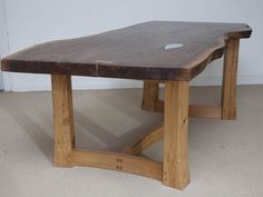 Handmade, bespoke British furniture from our best designers and makers. Custom designed and made furniture and interiors. Furniture Dining Table, Walnut Dining Table, Low Tables, Chair Bench, American Walnut, Garden Table, Wood Slab, Furniture Making, Natural Wood
