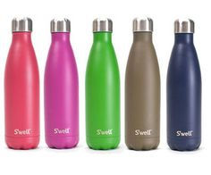 S'well bottles keep water cold for up to 24 hours and hot for 12 hours