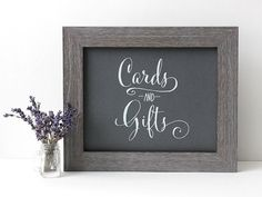 Wedding Card and Gift Table Sign Rustic Kraft by TheCrookedTwig