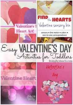 Are you ready for Valentine's Day? These Valentine activities for toddlers are super easy and a whole lot of fun!