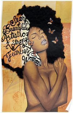 """Melanin Absorbs Light"" Canvas Print by BflybyDesign Black Love Art, Black Girl Art, Black Girl Magic, My Black Is Beautiful, Black Love Images, Black Art Painting, Black Artwork, Black Girls With Tattoos, Black Tattoos"