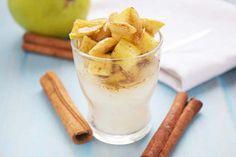 Zimtäpfel auf Vanillegriess