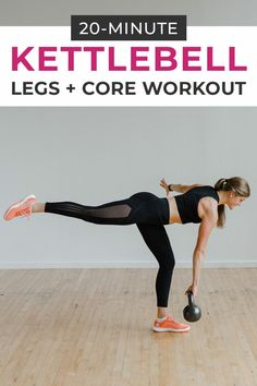 Burn out your lower body and core with this KETTLEBELL WORKOUT! This at home strength training workout is designed to build lean muscle and get you sweating in just 20 minutes, using a kettlebell! Amrap Workout, Leg Workout At Home, Boxing Workout, At Home Workouts, Body Workouts, Home Strength Training, Hiit Program, Kettlebell Training, Kettlebell Circuit