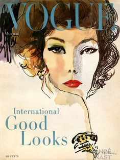 vintage vogue cover illustration