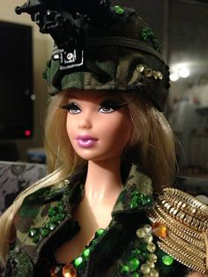 Army Fab Steffie Barbie Doll OOAK | eBay