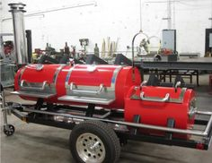 Smoke Bomb - Submit an Entry: Show off your Custom BBQ Smoker Bbq Smoker Trailer, Bbq Pit Smoker, Barbecue Pit, Custom Bbq Grills, Custom Bbq Pits, Bar B Que Grills, Custom Bbq Smokers, Bbq Equipment, Cooking Equipment