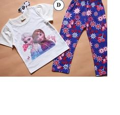 Frozen 2pc Pajamas Set White Blue 2T- 7. Starting at $12 on Tophatter.com!
