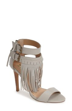 Obsessed with this '70s-inspired fringe sandal./Dorothy Johnson