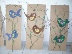 ptáčci na jaře Spring Arts And Crafts, Summer Crafts, Summer Art, Toddler Crafts, Toddler Activities, Crafts For Kids, Spring Birds, Bird Crafts, Bird Tree