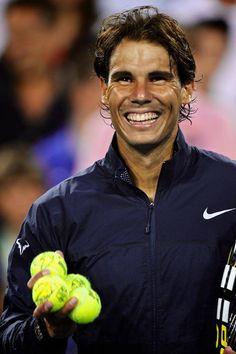 Rafa Nadal and his winning smile