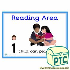 How Many Children... Reading Area Signs - Primary Treasure Chest Teaching Activities, Teaching Tools, Teaching Ideas, Eyfs Classroom, Classroom Rules, Numicon, Ourselves Topic, Children Reading, Number Patterns