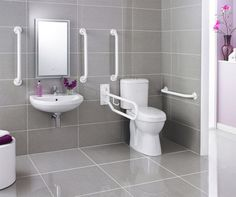 Newest Handicap Bathroom Design Ideas 04 – Home Design Ada Bathroom, Bathroom Toilets, Small Bathroom, Master Bathroom, Bathroom Ideas, Bathtub Ideas, Handicap Toilet, Handicap Bathroom, Modern Bathroom Design