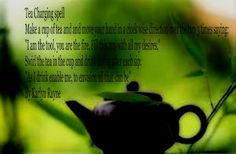Tea Charging Spell, brilliant blog, wonderful, advice, recipes, go and sit a spell with a crone..