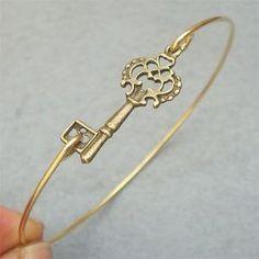 Key Bangle Bracelet Style 3 by turquoisecity on Etsy