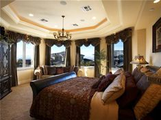 Beautiful Master Bedroom I Am A Big Fan Of Shades Of Brown