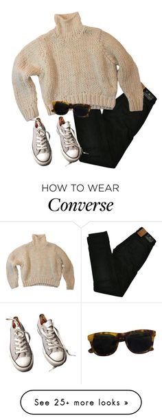"""""""cherry"""" by stolens on Polyvore featuring Maison Scotch, Converse and Han Kjøbenhavn"""