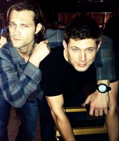 Jared and Jensen in their natural state of weird and beautiful