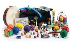 Grab n Go Auditory Sensory Kit - Auditory Sensory Toy Bodhran Drum, Egg Shakers, Space Blanket, Laughing Dog, Sensory Toys, Farm Yard, Big Bags, Percussion