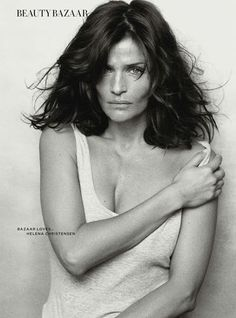 Helena Christensen : 'Beautiful At Every Age' by Peter Lindbergh for UK Harper's Bazaar April 2014