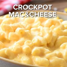 This Crock Pot Mac and Cheese is creamy, cheesy and an easy family dinner that even our picky eaters will devour! Our macaroni and cheese recipe is prepared in the slow cooker so it is easy to make an is part of Crockpot mac and cheese - Crockpot Mac N Cheese Recipe, Mac Cheese Recipes, Red Robin Mac And Cheese Recipe, School Mac And Cheese Recipe, Mac And Cheese Shells Recipe, Slow Cooker Mac Cheese, Mac Recipe, Macaroni Recipes, Macaroni Cheese