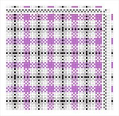 """Asexual Plaid 1. 3 repeat pattern for 15""""/120 heddles. Each repeat is 40 heddles."""