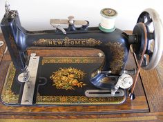 New Home Antique Treadle Sewing Machine by abracapocus_pocuscadabra, via Flickr